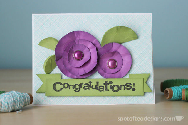 """Congratulations"" Handmade card using circle punches 