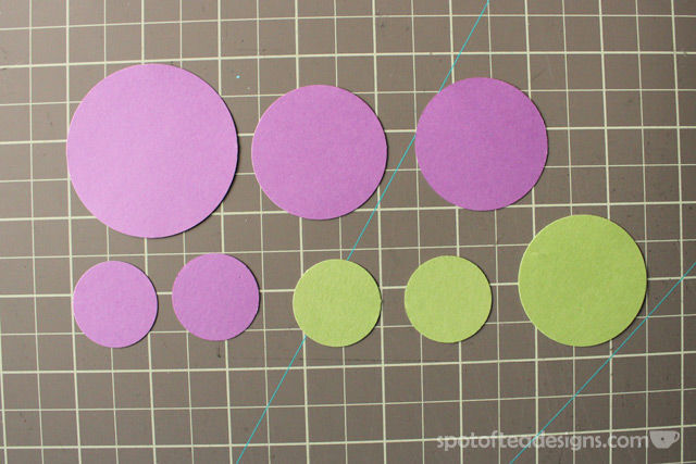 """Congratulations"" handmade card using circle punches. Layer the punched shapes to make flowers 