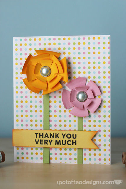 """Thank You Very Much"" Handmade card using nesting circle punch shapes 