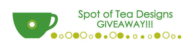 spot of tea designs giveaway notice