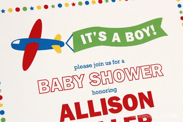 Transportation Themed Baby Boy Shower