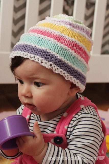 Handmade Knit Baby Hat | spotofteadesigns.com