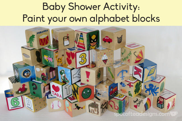 Baby Shower Activity: Paint Your Own Alphabet Block