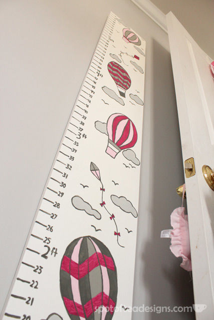 DIY Portable Growth Chart for #Baby #nursery | spotofteadesigns.com