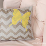 Brielle's Nursery: Stenciled Pillow using #TulipForYourHome
