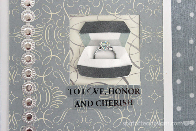 Handmade #Engagement Card: To Love, Honor and Cherish | spotofteadesigns.com
