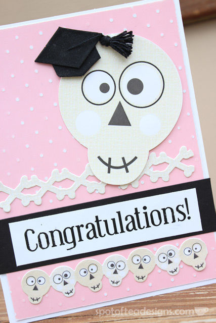 Handmade Graduation Card for someone earning a degree in Radiography | spotofteadesigns.com