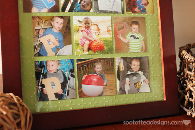 "Father's Day Gift for Grandfather: ""we love pop pop"" frame with each grandkid holding letters 