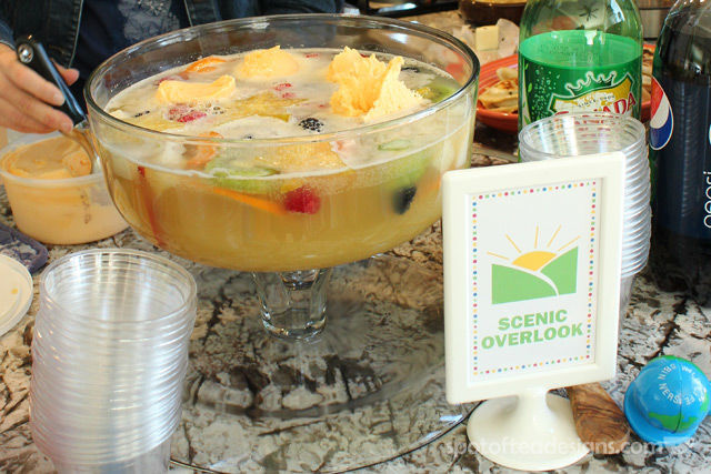 Transportation Themed Baby Shower: Scenic Route Sherbert Punch recipe | spotofteadesigns.com