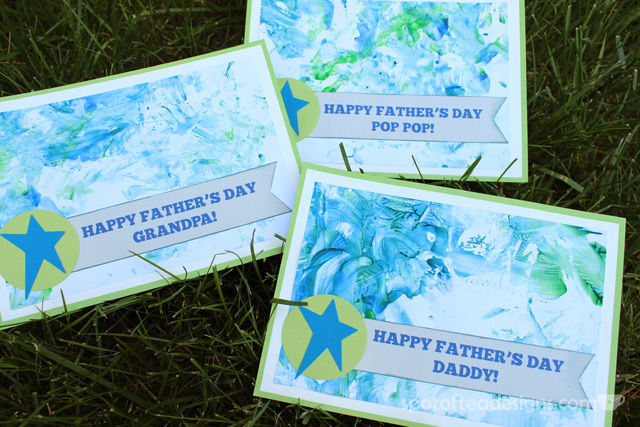 Father's Day Kids Craft Gift: Fingerpaint cards | spotofteadesigns.com