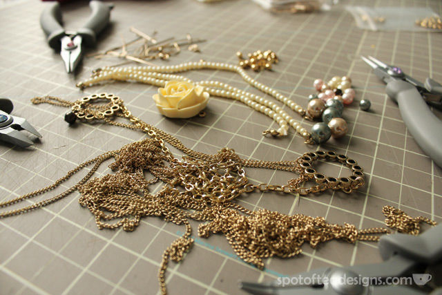 Playing With Gold Jewelry Accessories