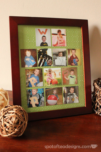 "Father's Day Gift: ""We love Pop Pop"" Grandkids picture frame 