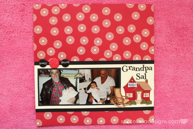 Baby Scrapbook Page about Grandpa | spotofteadesigns.com
