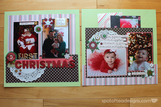 Baby's First Christmas Two Page layout | Spotofteadesigns.com
