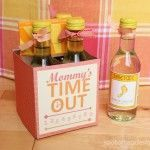 Mommy's Time Out Wine Gift {FREE PRINTABLE}