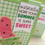 Baby Footprint Crafts: Summer Watermelon Cards