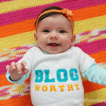 Custom Baby Onesies: Iron On Letters