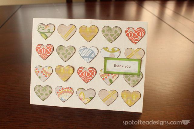 Use paper scraps to create handmade cards | spotofteadesigns.com