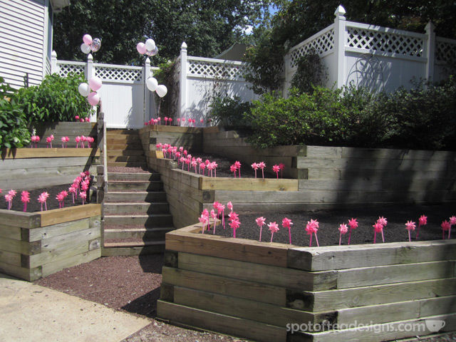 Minnie Mouse First Birthday Party: Pink Pinwheel Entrance for guests | spotofteadesigns.com