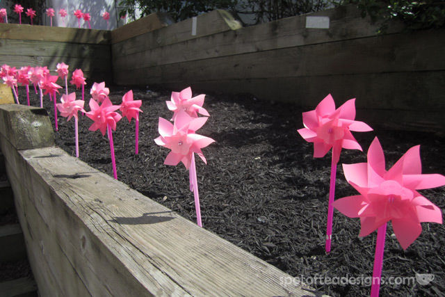 Minnie Mouse First Birthday Party: Pinwheel entrance | spotofteadesigns.com