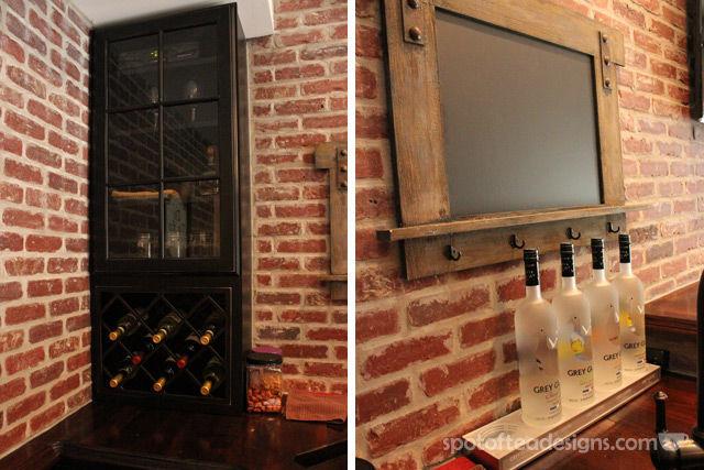 Beautiful Basement Bar Reveal | spotofteadesigns.com