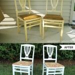 Wooden Folding Chair Makeover {BEFORE and AFTER}