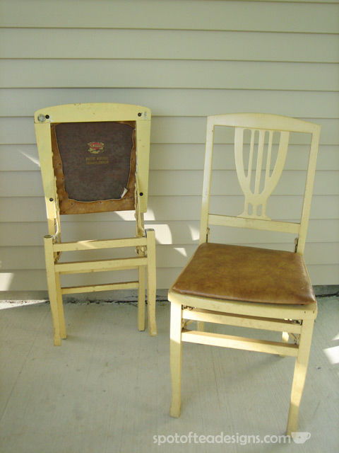 Wooden Chair Makeover: Before and After Photos | spotofteadesigns.com