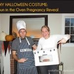 DIY Halloween Couples Costume: Bun in the Oven Pregnancy Reveal {Guest Post}