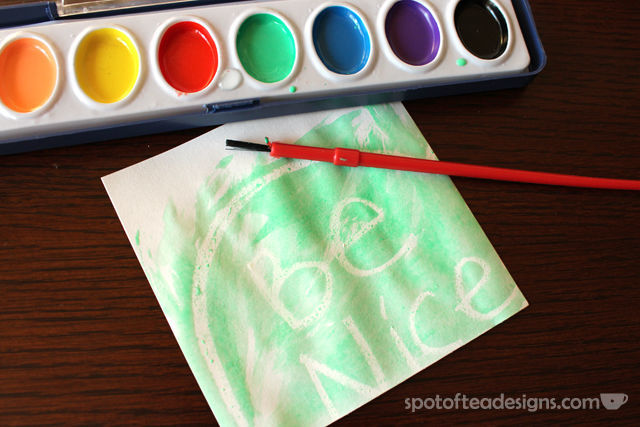 "#ElfOnTheShelf Activity: Write a ""secret"" message with a white crayon and paint over with watercolors 