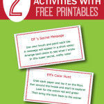2 Easy Elf On The Shelf Activities with Free Printables