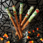 Quick and Easy Halloween Treats: Monster Pretzel Rods