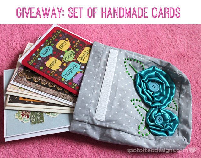 Spotofteadesigns.com Giveaway: Set of Handmade cards