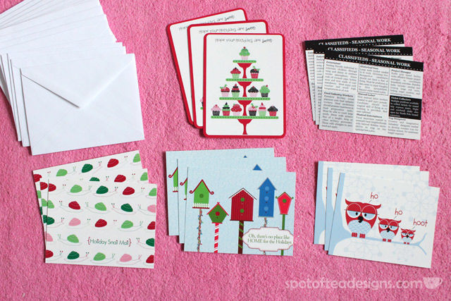 Spotofteadesigns.com Holiday Postcard #giveaway