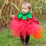 DIY Toddler Strawberry Halloween Costume
