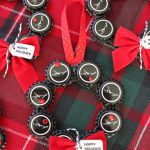 Use Your Stash Challenge: Bottle Cap Christmas Ornaments