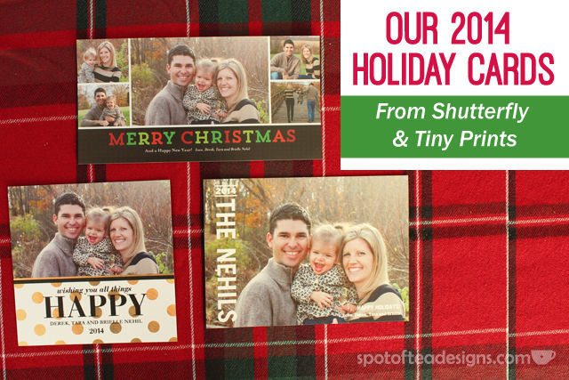selection of 2014 holiday cards created on shutterfly and tinyprints spotofteadesignscom - Shutterfly Christmas Cards