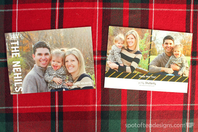 Selection of 2014 Holiday cards created on @TinyPrints | spotofteadesigns.com