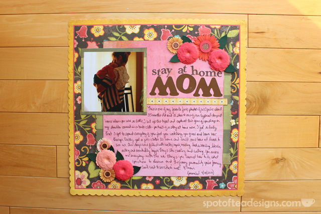 "Baby Book as Scrapbook - Favorite Mom and Baby Photo on ""Stay at Home Mom"" Page 