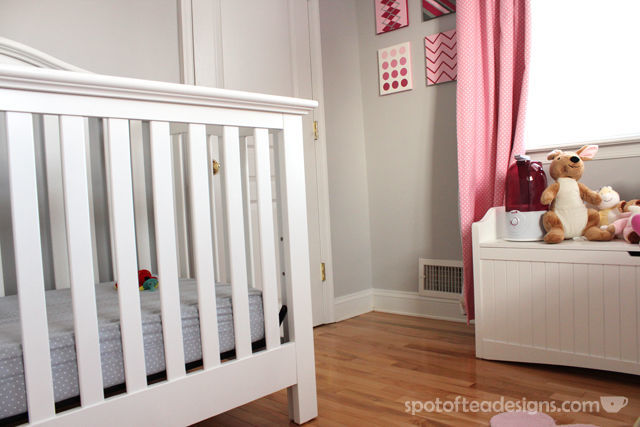 Tips to setting up your nursery to make it safer for baby and more functional for parents. Humidifer near baby. #baby #nursery #parenting | spotofteadesigns.com