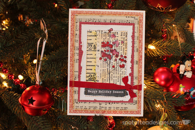 Christmas Card 2014: handmade by Catherine Scanlon as featured on spotofteadesigns.com