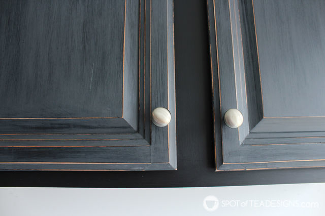 Garage Cabinet Makeover with @DecoArt_Inc Chalky Finish Paint | spotofteadesigns.com