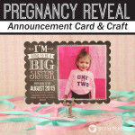 Pregnancy Reveal Announcement Cards with Tiny Prints