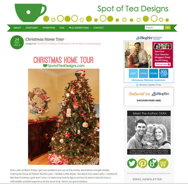 Spotofteadesigns.com blog design December 2014