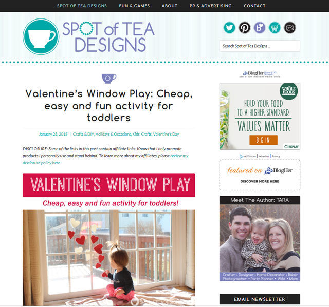 Spotofteadesigns.com blog design January 2015