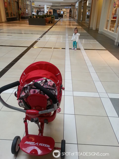 10 ideas to entertain a #toddler in #winter: take their bike to the mall | spotofteadesigns.com