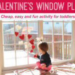 Valentine's Window Play: Cheap, easy and fun activity for toddlers
