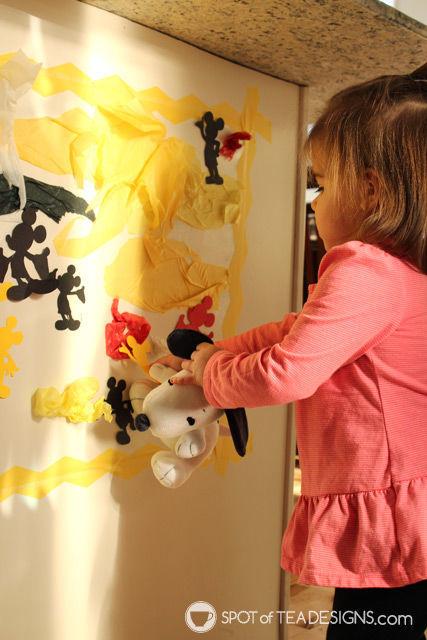 Toddler Craft Activity: #Disney Contact paper play | spotofteadesigns.com