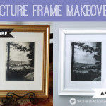 Picture Frame Makeover with Krylon Spray Paint