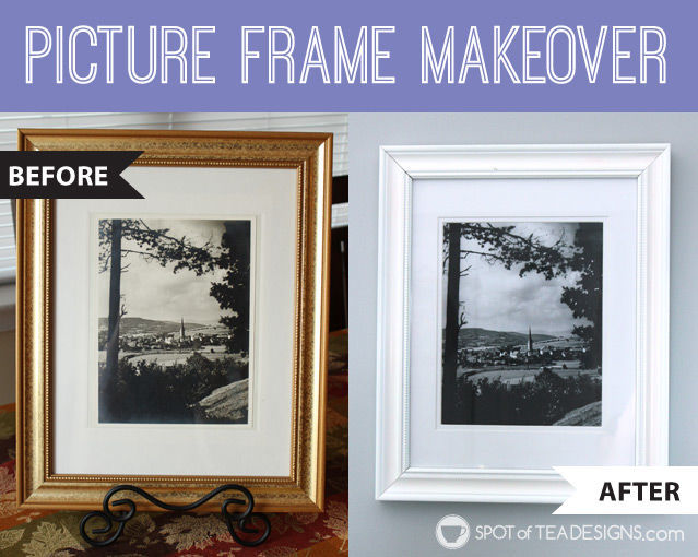 Picture Frame Makeover With Krylon Spray Paint Spot Of Tea Designs