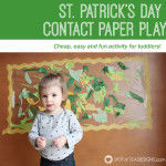 St. Patrick's Day Contact Paper Play
